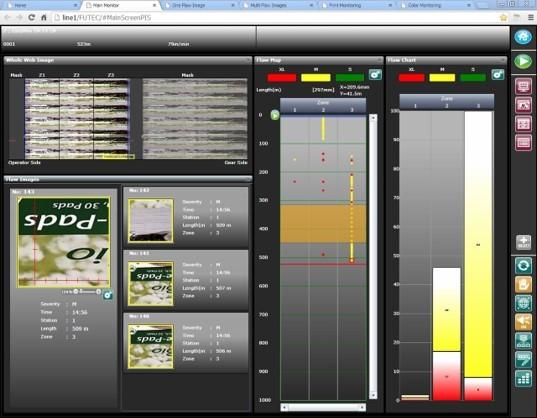 100% Inspection User Interface - Main Screen