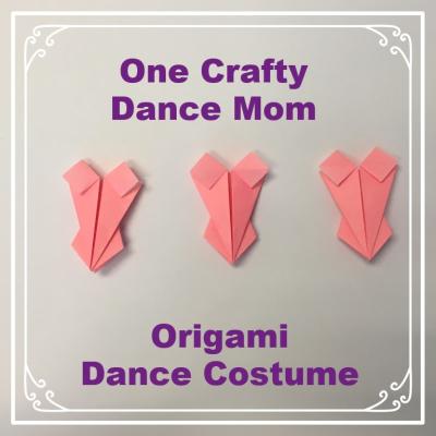 One Crafty Dance Mom - Origami Dance Costume