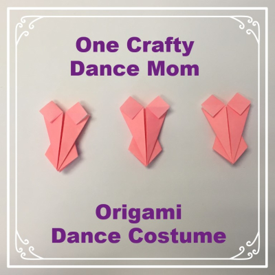 One Crafty Dance Mom - Origami Dance Costume