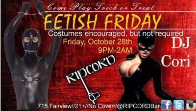 Fetish Friday Bar Advertisment
