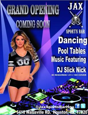 Jax Sports Bar Opening Soon