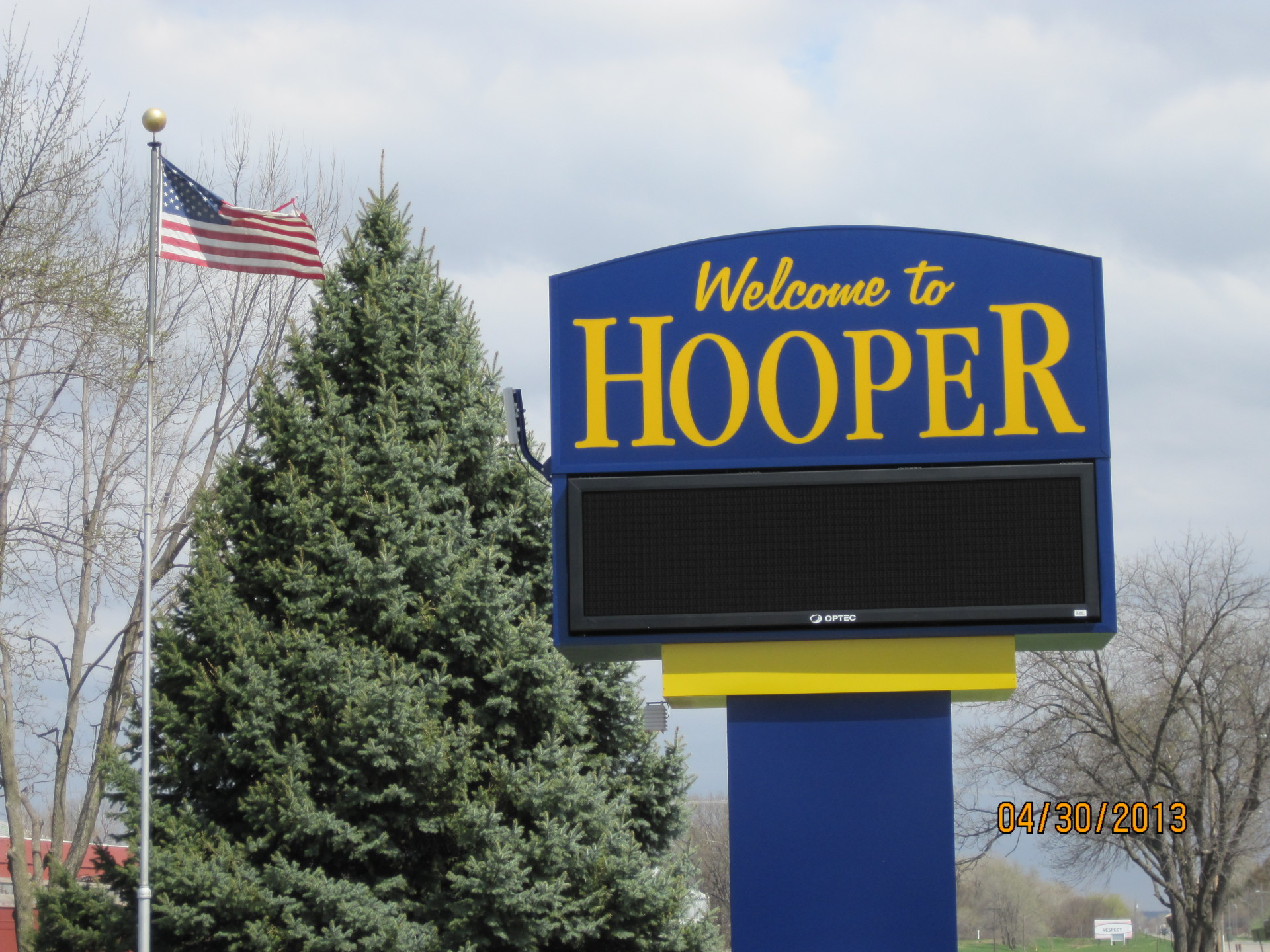 City of Hooper  124 N Main St,   Box C,  Hooper, NE 68031-0597