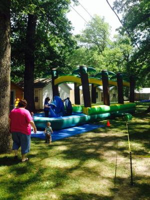 Water slide during Family Camp