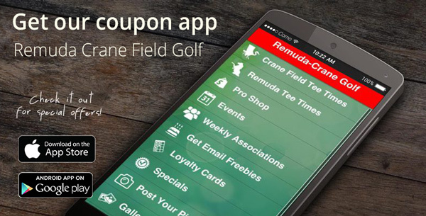 Smartphone Coupon App for Remuda and Crane Field