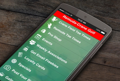 Remuda Crane Field Golf Phone App
