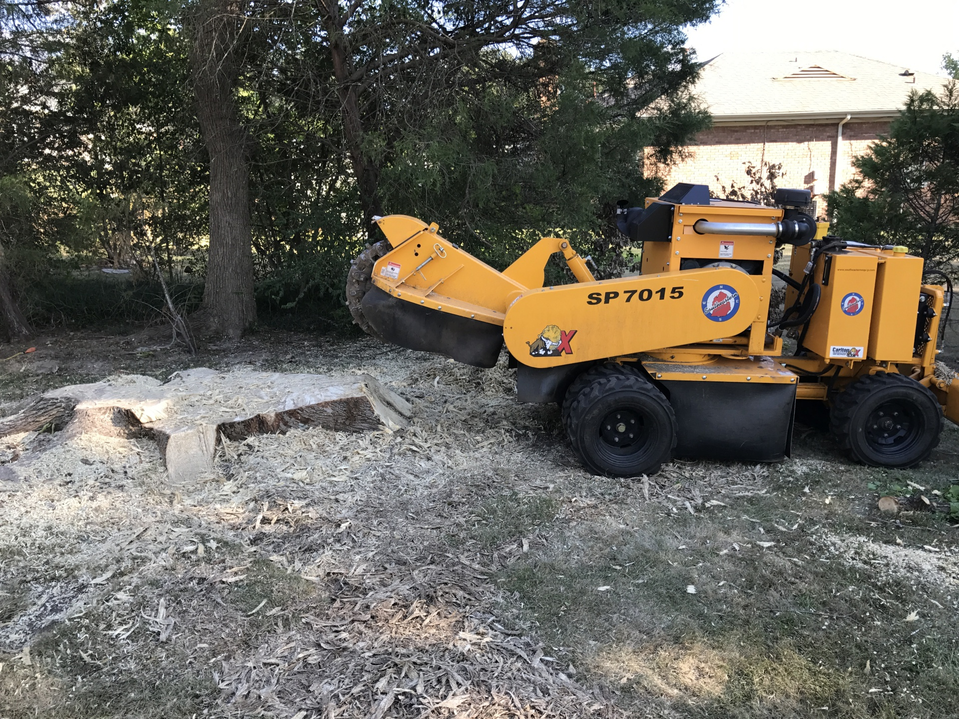 Grinding a Large Stump in Prattville, AL