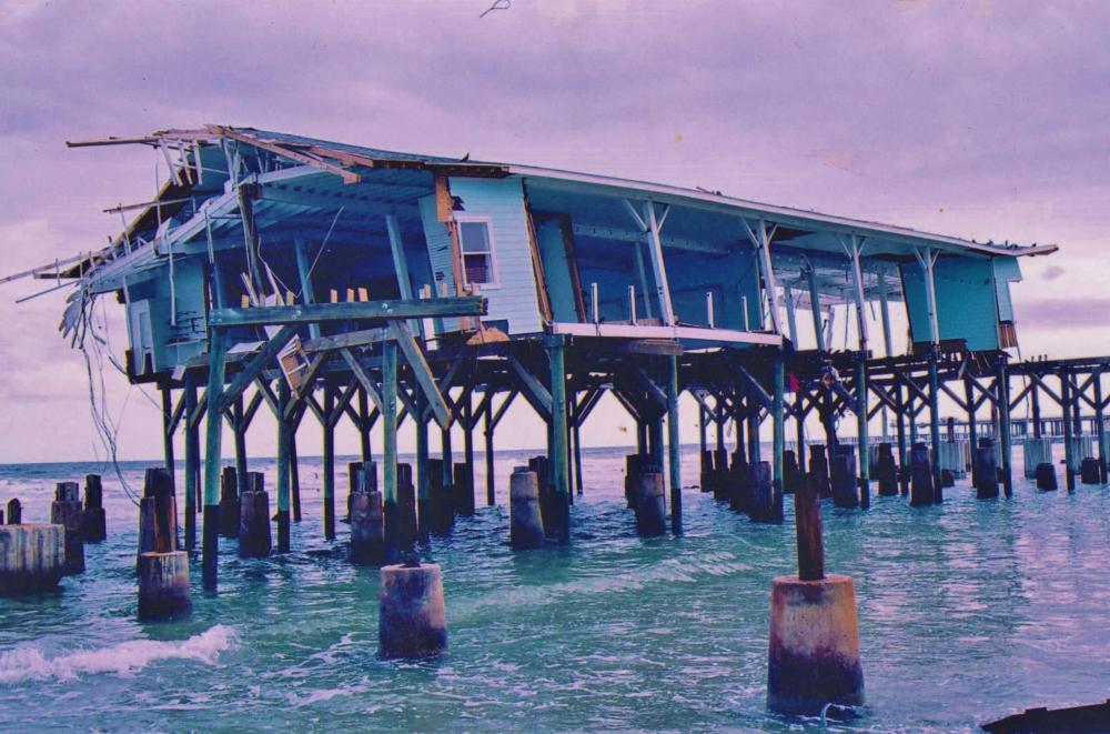 Hurricane in the Carribean