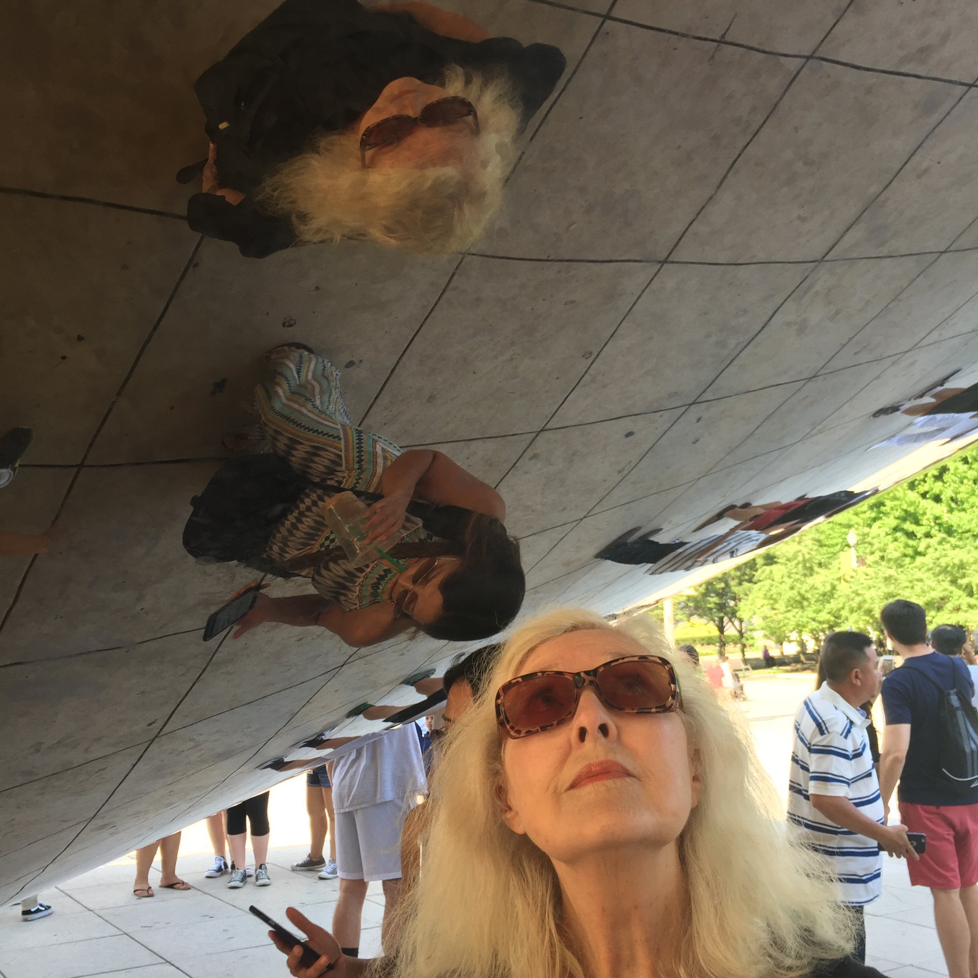 Sandra at the Bean in Chicago
