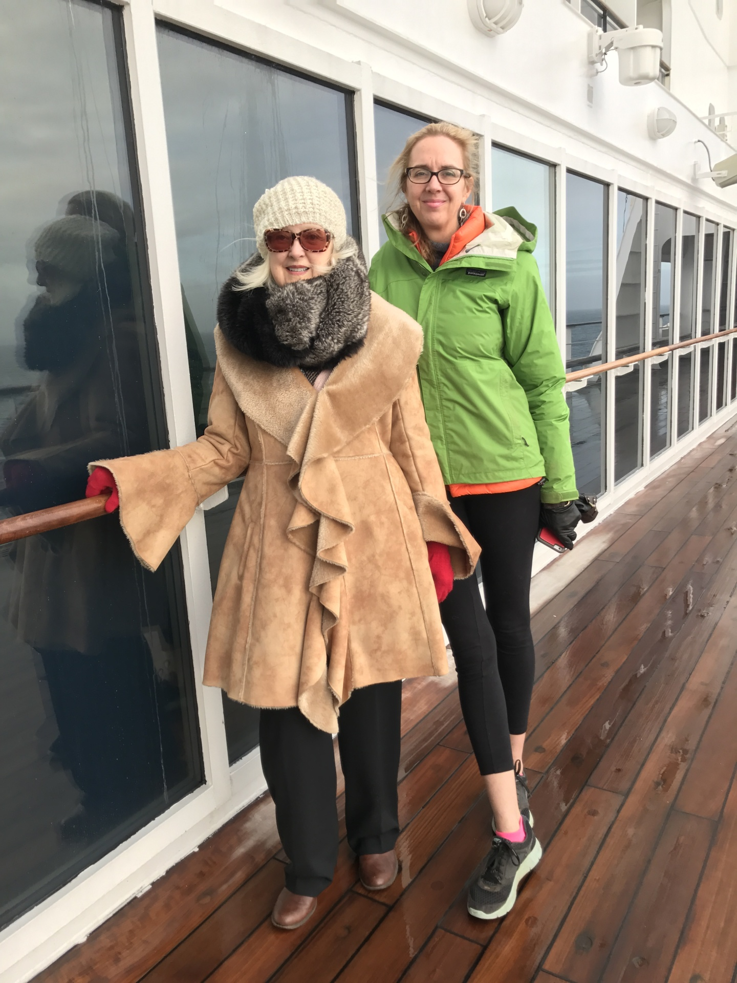 Alison and Me on our transatlantic journey