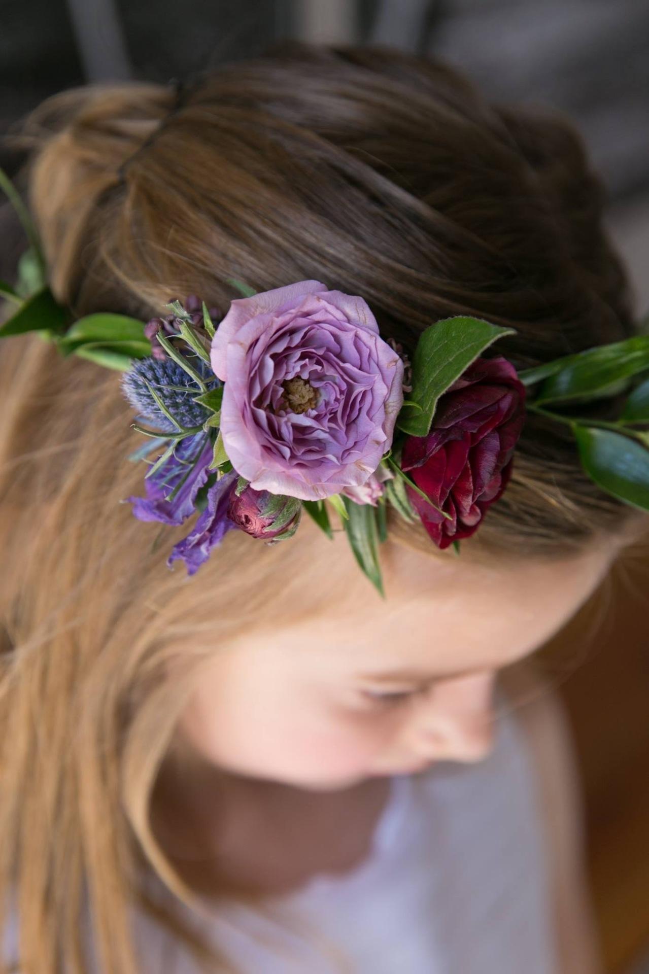 Hair flowers for the flower girl