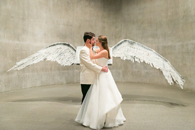 Mr and Mrs with wings
