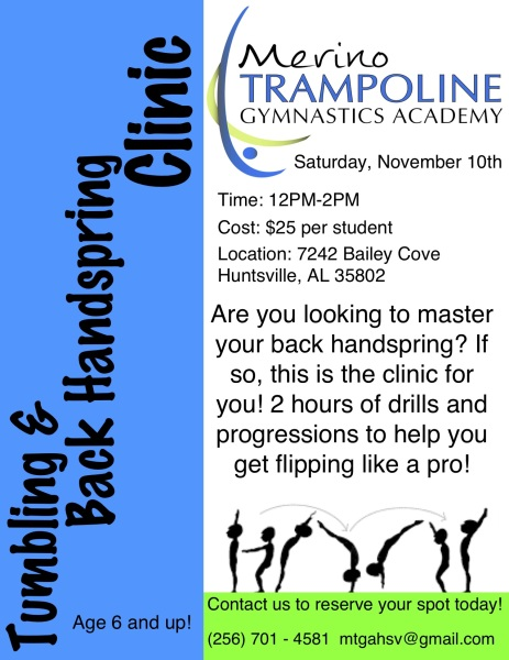 Fall 2019 Back Handspring Clinic