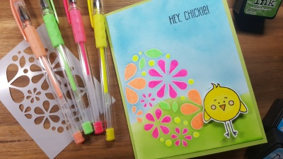 Hey Chickie!  SSS March Card Kit Card #1