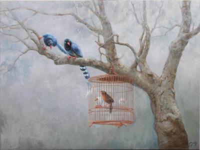 鳥瞰世界 . Blue Magpie .