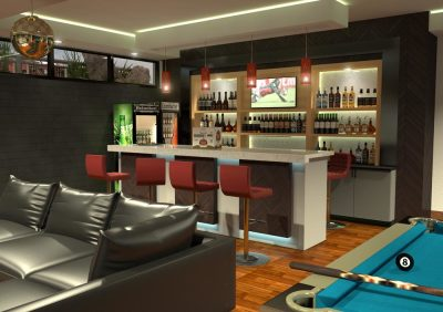 Residential Basement Bar
