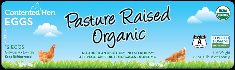 Contented Hen Certified Humane Pasture Raised Organic Eggs