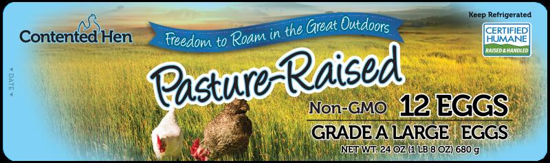 Contented Hen Certified Humane Pasture Raised NON-GMO Eggs