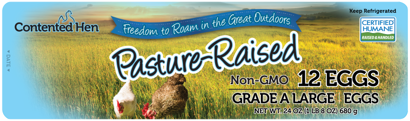 Contented Hen Certified Humane Pasture Raised NON-GMO Eggs