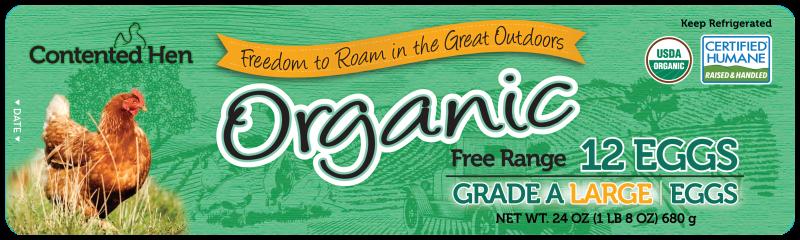 Contented Hen Certified Humane Organic Free Range Eggs
