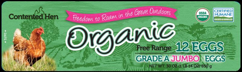 Contented Hen Certified Humane Organic Free Range Jumbo Eggs