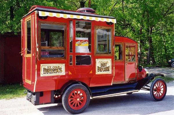 Antique Style Popcorn Truck