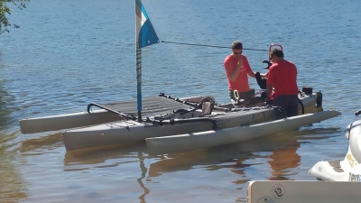 High tech kayaking and sailing with my spinal cord injury friends.