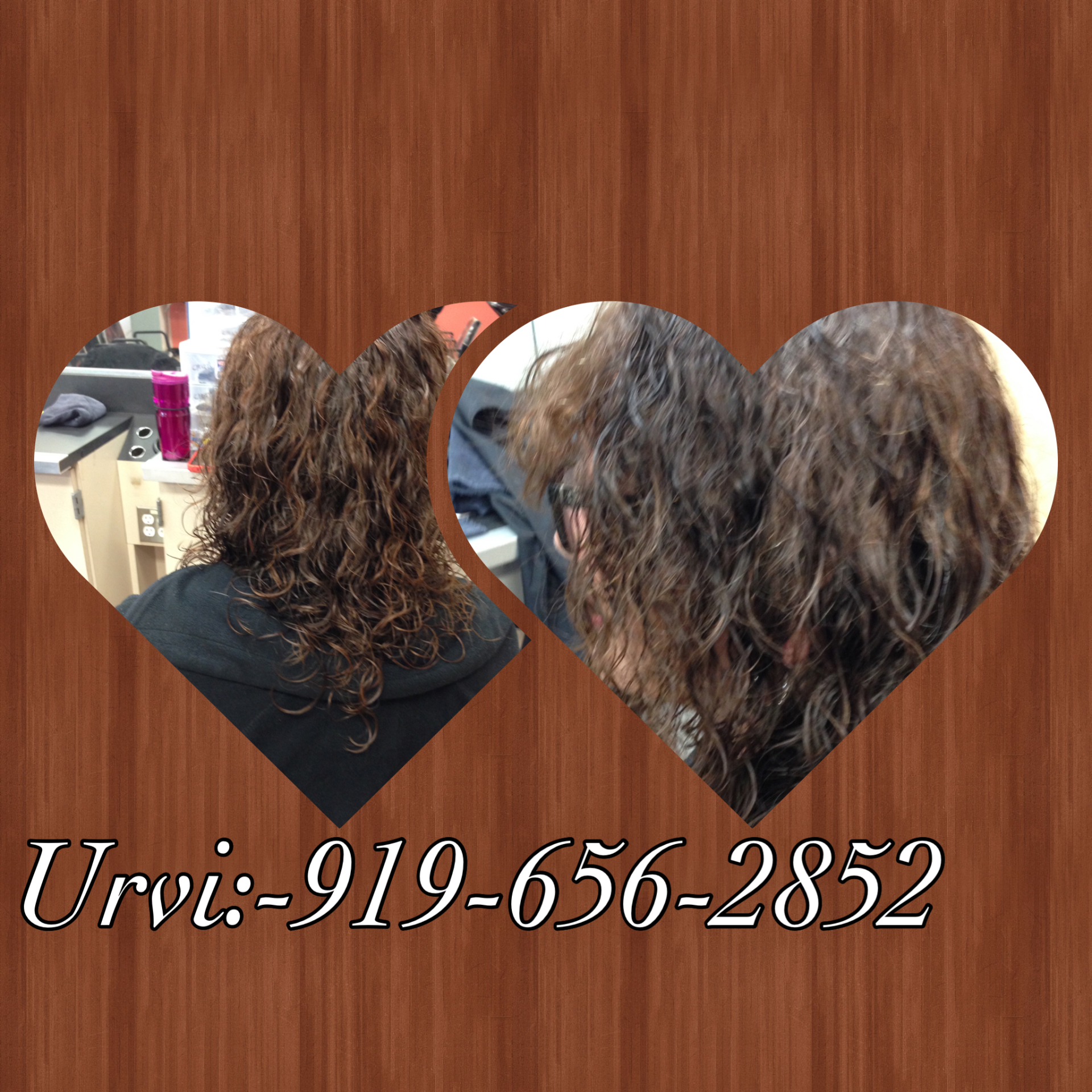 Long hair perm