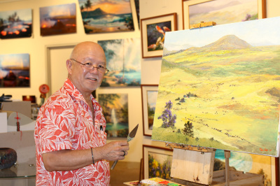 Ed Furuike painting