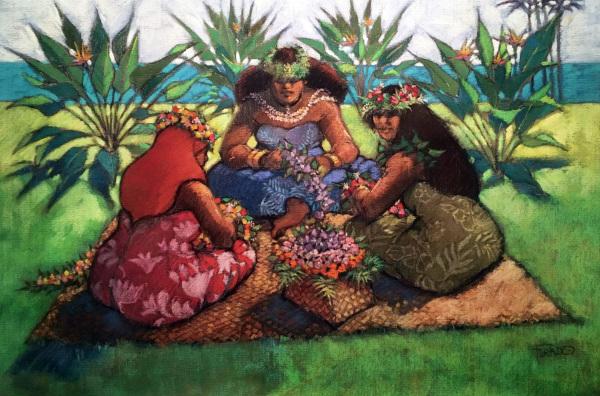 Weaving Floral Leis Al Furtado
