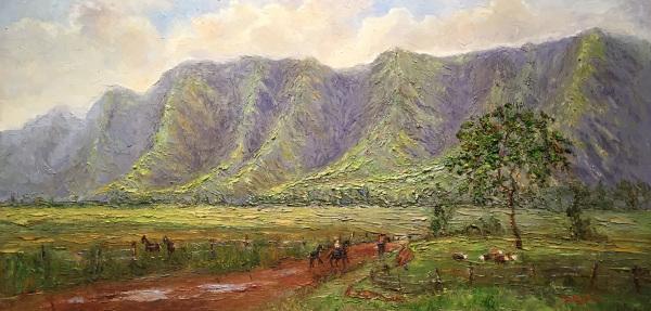 The Mountains of Waimea Susan Miyachi SOLD