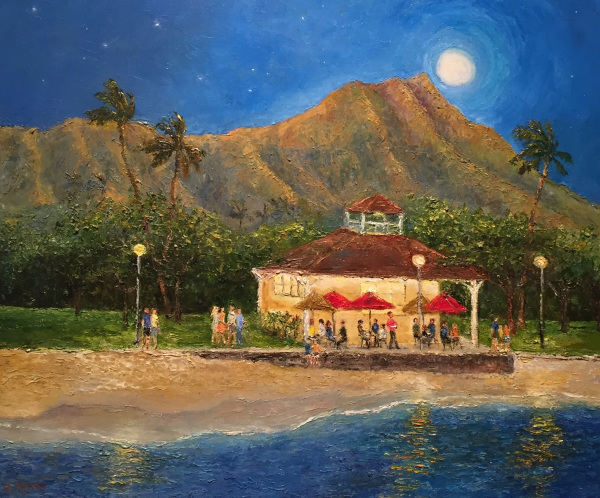 Cafe on Queen's Beach Waikiki Susan Miyachi