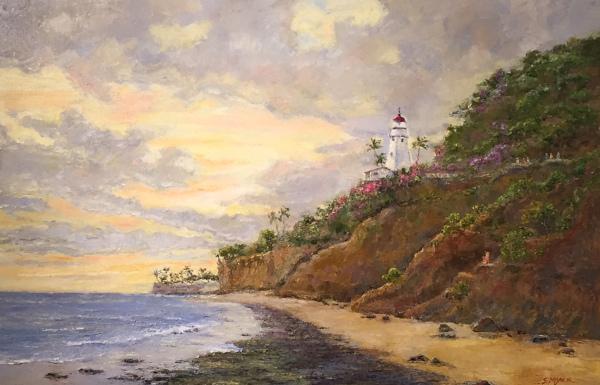 Coast Guard Lighthouse at Mount Leahi Susan Miyachi SOLD
