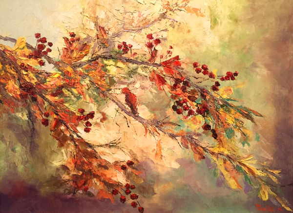 Among Autumn Leaves Ed Fururike SOLD