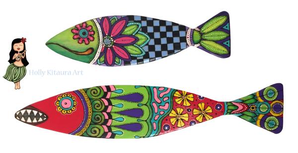 Wood Fish Holly K originals