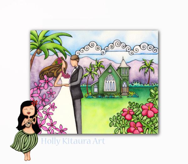 Hawaiian Wedding Holly K giclee