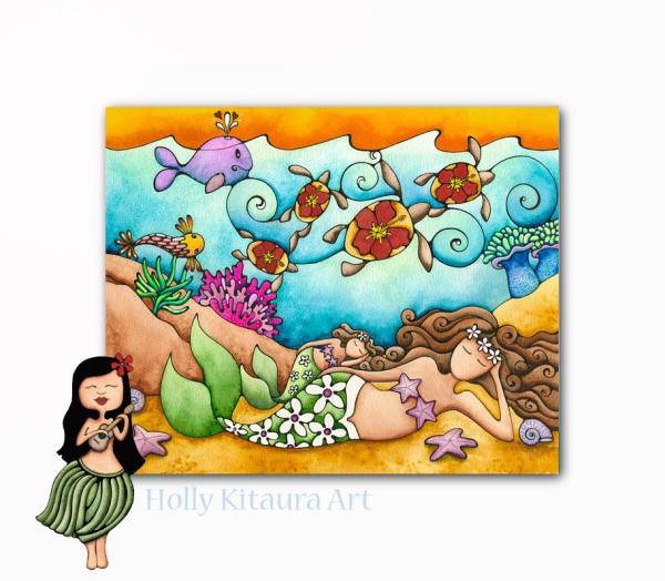 Mermaid Honu Dreams Holly K giclee