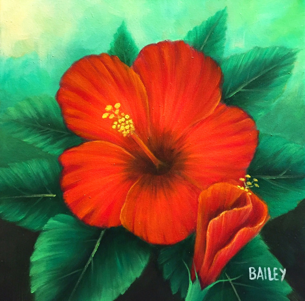 Red Hibiscus Bailey Leung