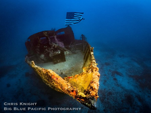 FV Friendship Wreck with Flag Chris Knight