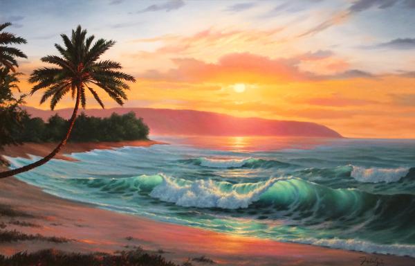 Sunset Beach Giclee Lance Fairly