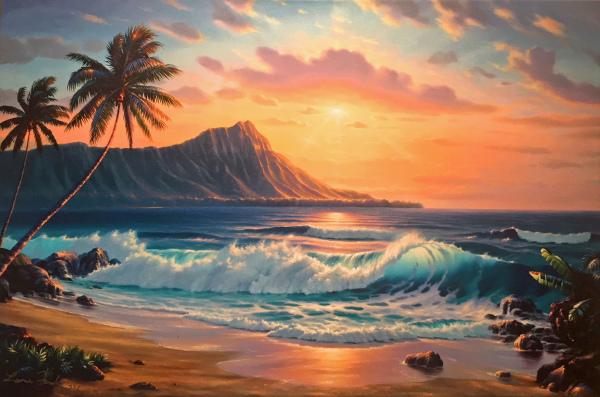 Waikiki Beach Giclee Lance Fairly