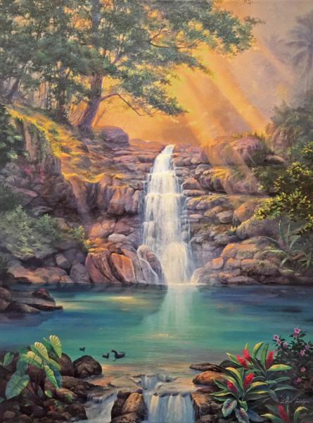 Waimea Falls Giclee Lance Fairly