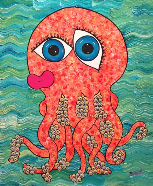 Bubble Gum Octopus Jehan Valiente