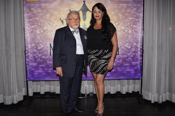 Presidente Antonio Ibarria y La Directora Marie Llanos