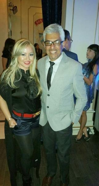 La bella Karol Santana y Gran amigo y apoyador Carlos Catire