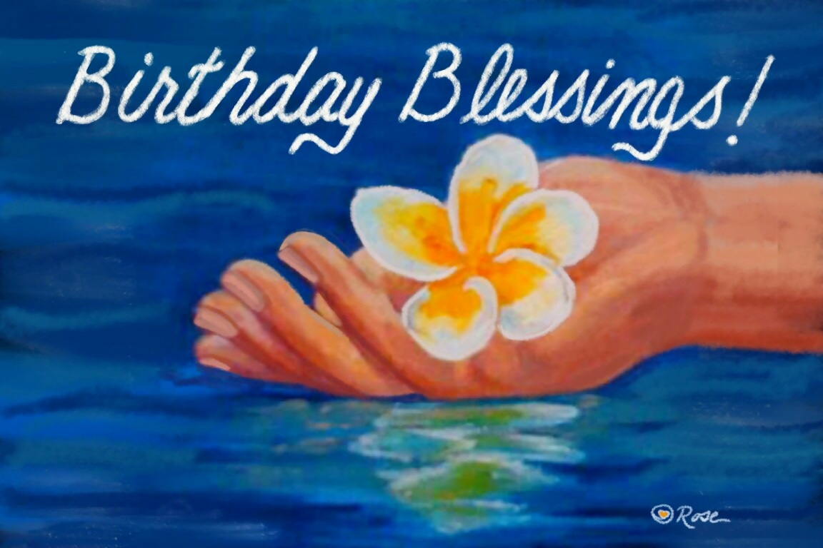 Birthday Blessings Plumeria 1