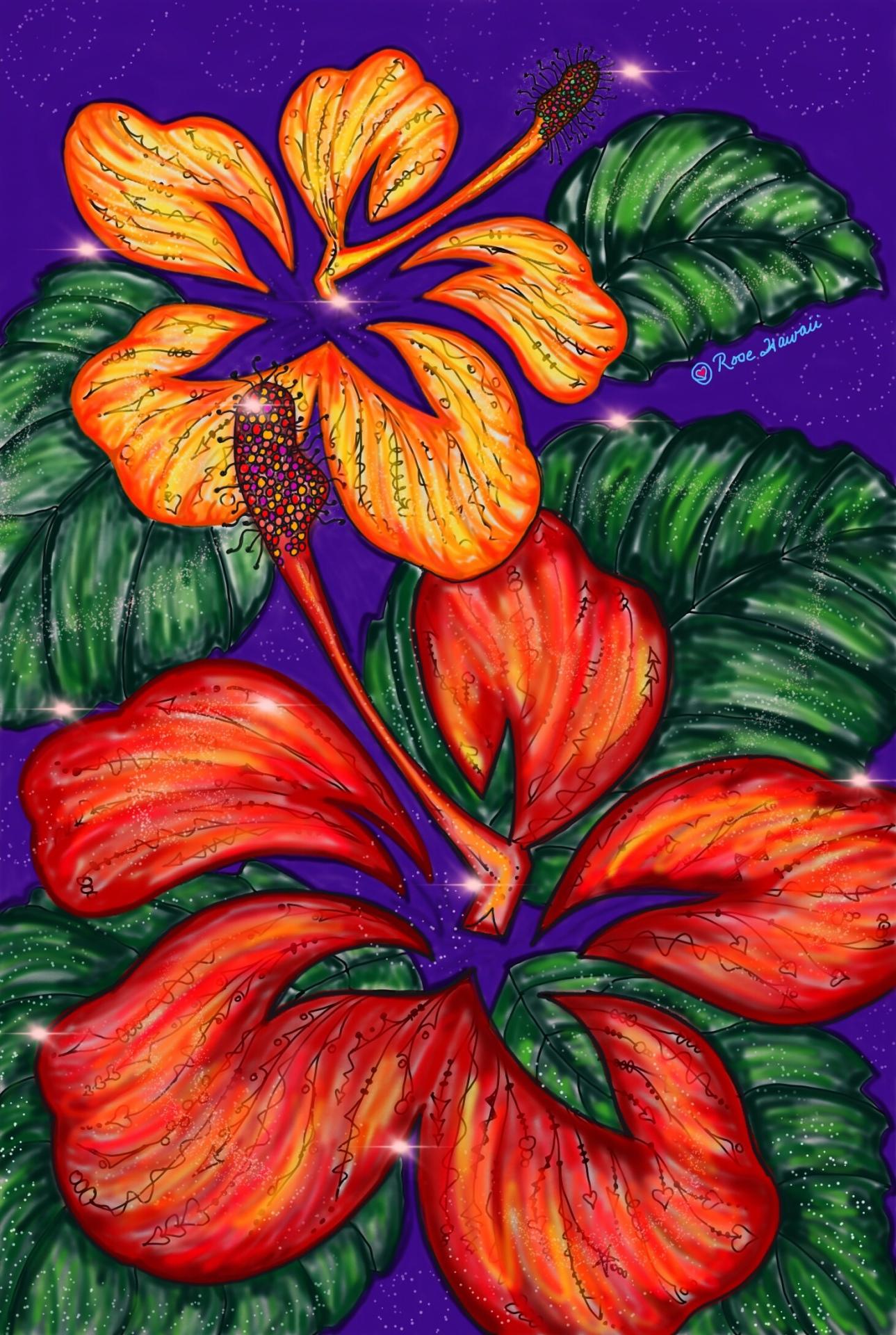 Tangled Hibiscus