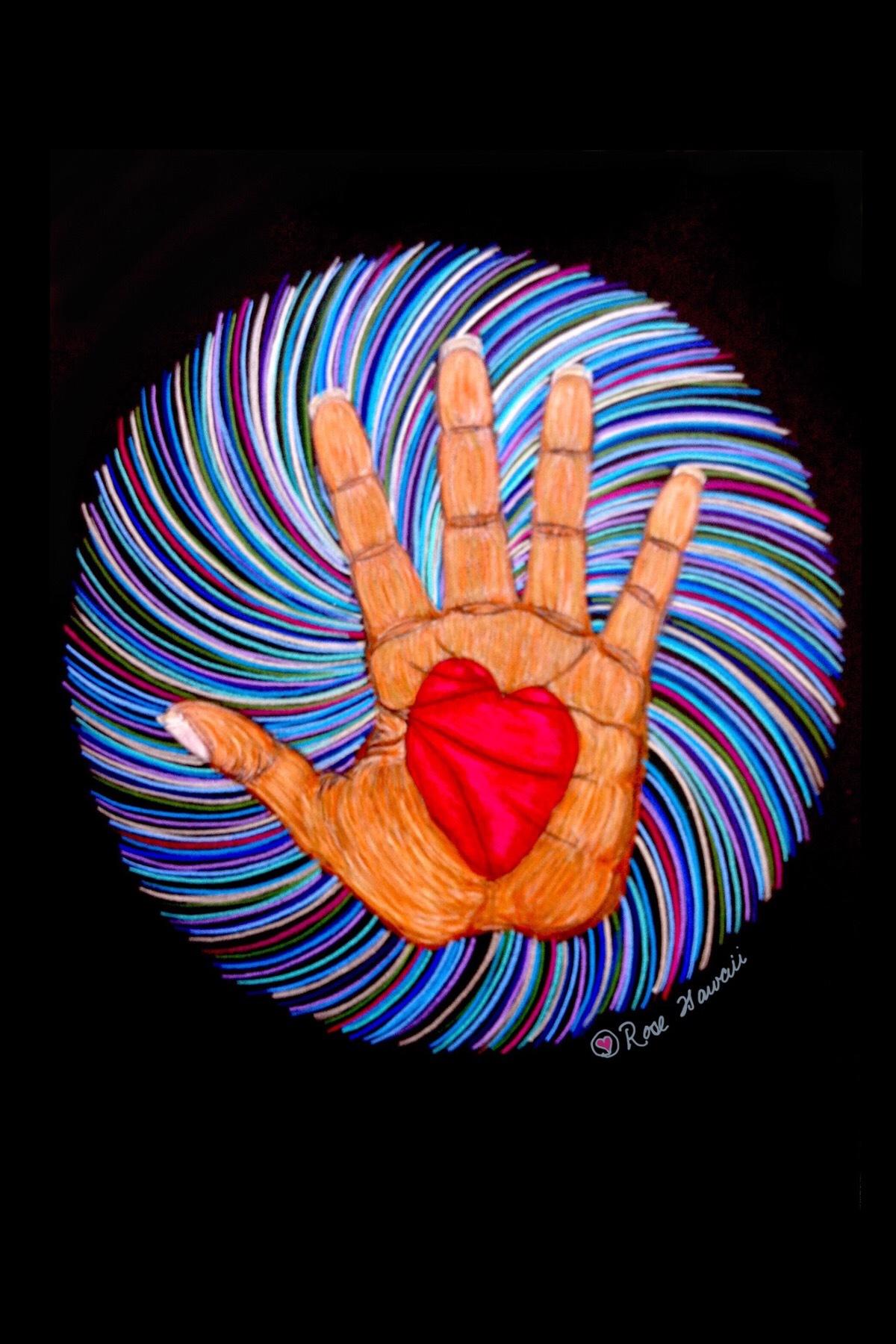 Intuitive Healing Hands energies on black