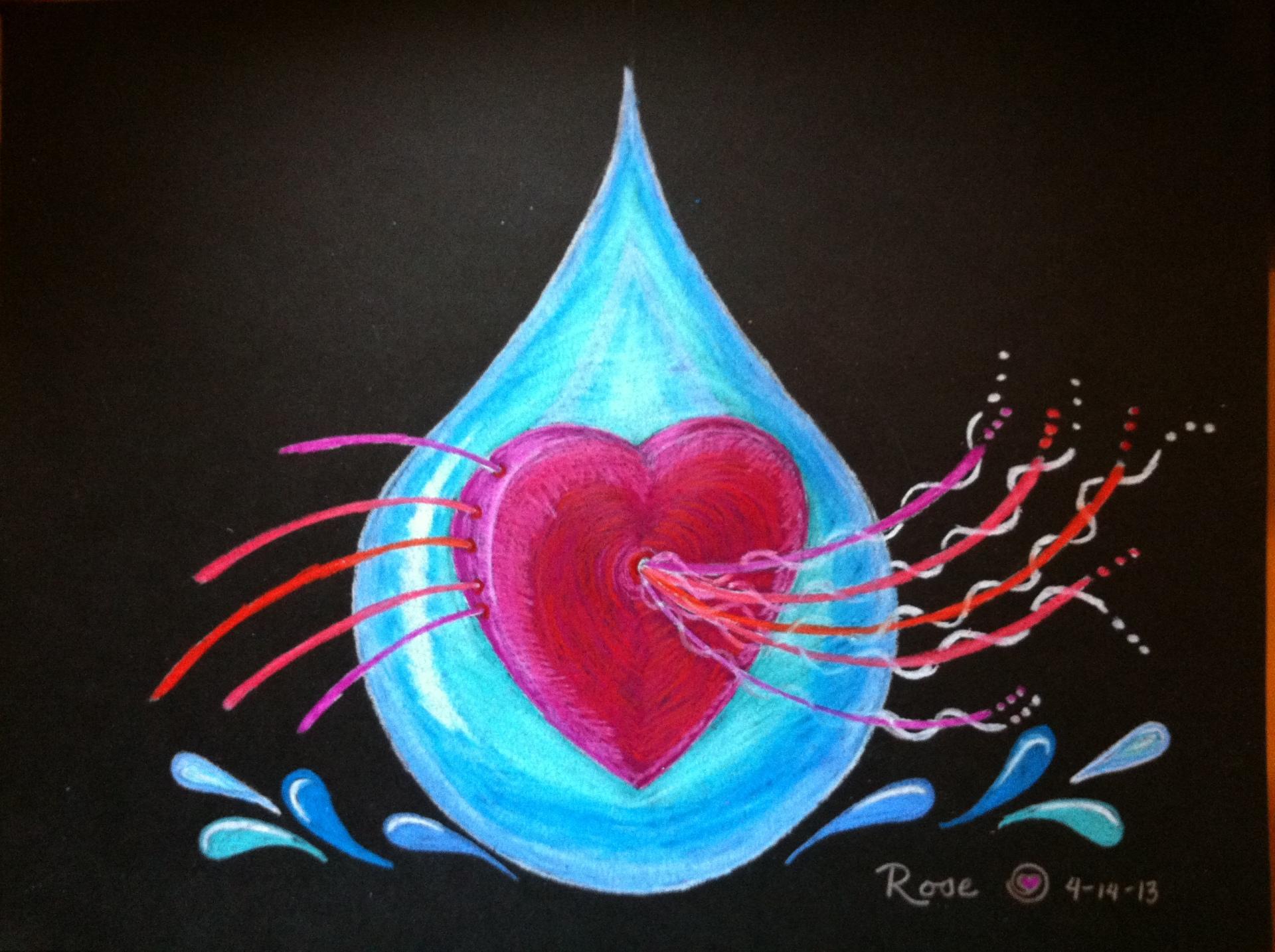 Intuitive Healing Tears on black