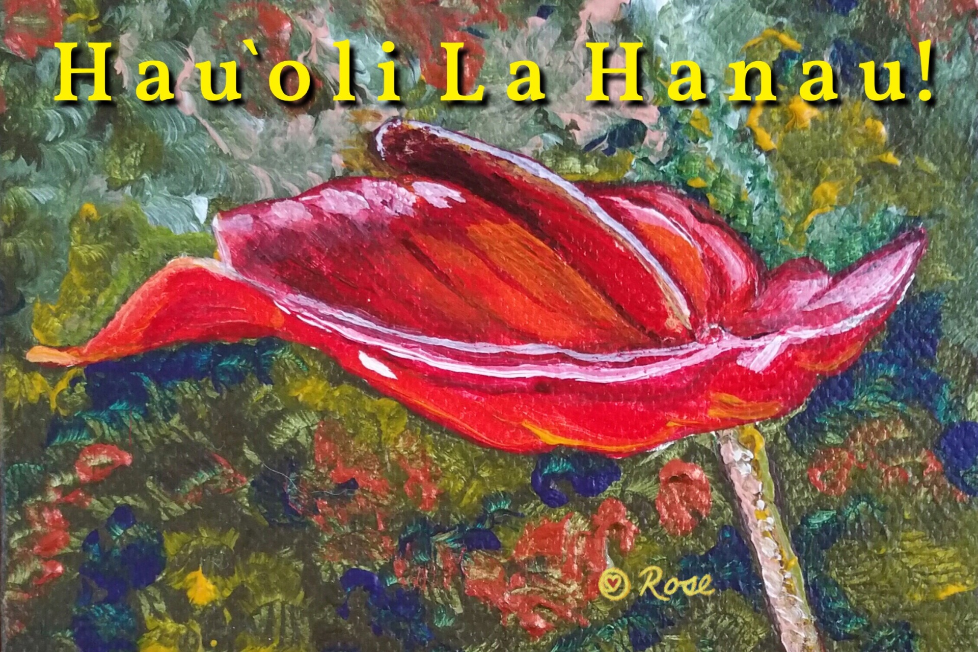 Hawaiian Birthday Anthurium 1