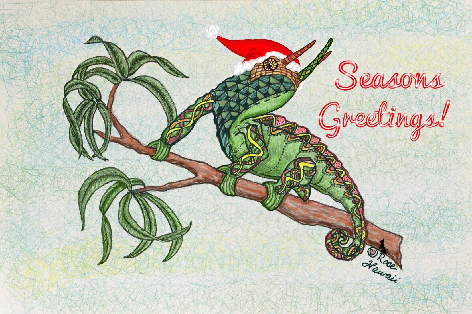 Seasons Greetings Jackson Chameleon